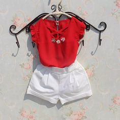 Girls Suit Summer Little Flower Cotton T Shirt And Pants Toddler Girls Clothing Set Years Old Children Clothing, Ropa de niña, Kids Outfits Girls, Toddler Girl Outfits, Kids Girls, Short Niña, Girl Sleeves, Kids Shorts, Girl Model, Outfit Sets, Sleeve Styles