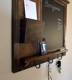 Chalkboard Mail Organizer letter holder  Key by BeachWoodKreations, $140.00