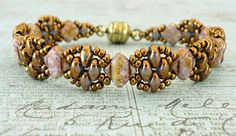 Linda's Crafty Inspirations: Bracelet of the Day: Silky Stacker - Alabaster Senegal