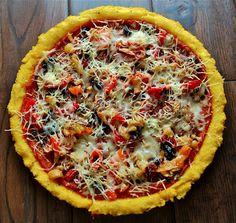 polenta pizza, yum!