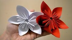 Layered Paper Flower Cutting and Folding Technique - YouTube