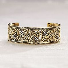 Bronze and Sterling Silver Balinese Cuff Bracelet