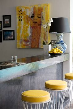 kitchen by abigail ahern #kitchen #yellow #grey