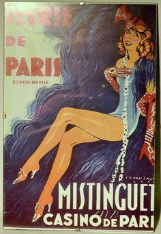 "Féerie de Paris Advertising  11"" x 8""½ Print Poster with Clear Glass Frame"