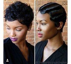 Finger Waves Are The Hottest Trend In Hair - 8 Women Rocking Gorgeous Finger Waves Read the article here - http://www.blackhairinformation.com/general-articles/playlists/finger-waves-hottest-trend-hair-8-women-rocking-gorgeous-finger-waves/