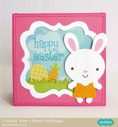 Doodlebug Easter Parade Easel Card by Mendi Yoshikawa