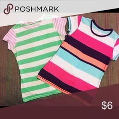 Colorful Girls' Tops by Arizona Cute and Colorful Stripped Girls' Tops by Arizona Jean Co ~ 2 piece bundle ~ Arizona Jean Company Shirts & Tops Tees - Short Sleeve