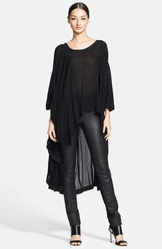 Donna Karan Collection Asymmetrical Washed Crepe Tunic | Nordstrom