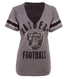 83030e98709 Oakland Raiders NFL GIII Women s M Any Sunday Rhinestones V-Neck T-Shirt  38