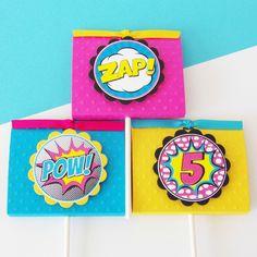 Girl Superhero Lollipop Party Favors