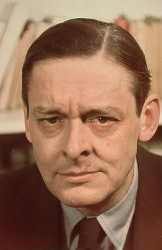 "T.S. Eliot: British essayist, publisher, playwright, literary and social critic, and ""one of the twentieth century's major poets"". He moved from his native United States to England in 1914 (25 yrs old) and later became a British citizen (1927). He was awarded the Nobel Prize in Literature in 1948, ""for his outstanding, pioneer contribution to present-day poetry""."