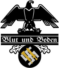"""III. Reich - 1930.tih - plakat - Blut und Boden . Says : """" Blood and Sauel """" ..."""