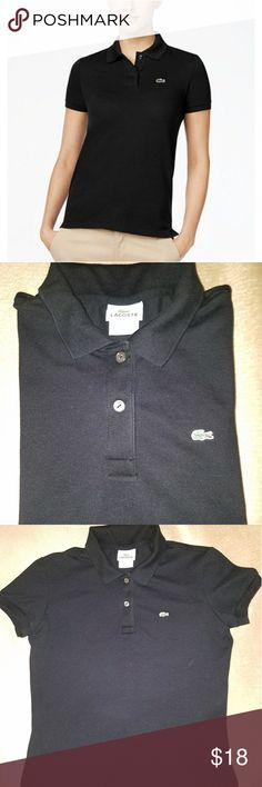 Lacoste Classic Two Button Polo 42 Classic Lacoste Polo; size 42; Excellent preowned condition. Lacoste Tops