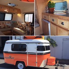 A modern version of the Eriba Puck, The Meerkat! Small Travel Trailers, Small Trailer, Tiny Trailers, Camper Trailers, Little Guy Trailers, Little Campers, Small Campers, Teardrop Camper Interior, Camper Interior Design