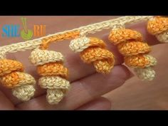 ▶ Crochet Spiral Edging Tutorial 1 Crochet Spiral Fringe - YouTube