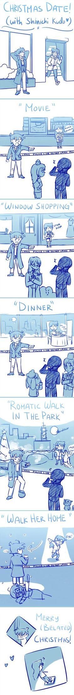 Christmas Date with Shinichi xD (( Kinda sums up da show )) Magic Kaito, Detective Conan Ran, Best Anime Shows, Gosho Aoyama, Kaito Kid, Detektif Conan, Cute Girl Wallpaper, Kaichou Wa Maid Sama, Case Closed