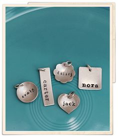 "add-on for rectangle names on chain necklace after we have next baby - medium charm - 1 1/4"" rectangle, font: plain lowercase, text: first name of baby"