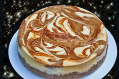 Pumpkin Swirl Cheesescake-- and its just as good with light cream cheese (seriously!)