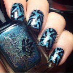 Blue nails. Nail art. Naip design. Polish. Fashion.