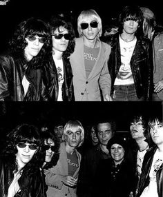 Punk Superheroes: Iggy Pop and the Ramones outside Max's, circa 76, photo Leee Childers.