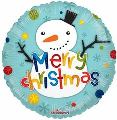 Snowman Balloon Merry Christmas Balloon Christmas by ThePartyGnome