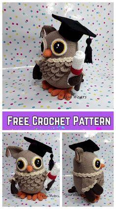 Crochet Wisdom Graduation Owl Amigurumi Free Pattern