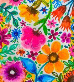 Good Morning Sunshine flowers floral garden summer floral, flowers, colorful garden, garden, wild garden, robin mead,colorful blooms flower prints #robinmeadart