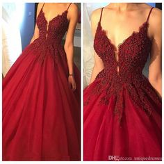 Charming Beading Ball Gown Prom Dresses Spaghetti Straps Sexy Burgundy Puffy Tulle Evening Gowns Formal Long Party Dress Prom Dress For Sale Prom Dress Red Quinceanera Dresses, Cheap Homecoming Dresses, Prom Dresses For Sale, Sexy Dresses, Dress Prom, Dresses Uk, Puffy Prom Dresses, Pink Dresses, Ball Gowns Evening