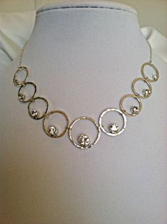 Necklace with multiple CZ's  Sterling by Copperfox Gems & Jewelry, $125.00