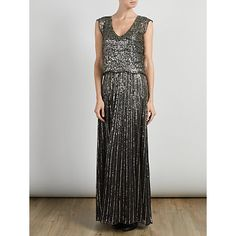 Buy Somerset by Alice Temperley Sequin Maxi Dress, Gold Online at johnlewis.com