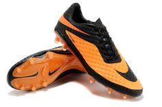 huge selection of 41747 96779 Chaussures de foot nike Hypervenom Phantom FG Orange Noir pas cher Nike  Soccer Shoes, Soccer