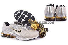 White Gold Nike Shocks