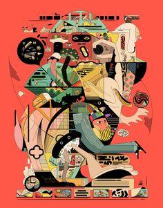 Gibberish Hubris on Behance Illustration Artists, Digital Illustration, Illustrations, Illustration Styles, Cartoon Network, New York Times, Pop Art, Ralph Steadman, Cultura Pop