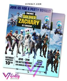 Fortnite Invitation, Marshmello Invitation with FREE Thank you card Digital Invitations, Birthday Invitations, E Invite, Free Thank You Cards, Text Messages, Your Cards, Rsvp, Birthday Parties, File Format