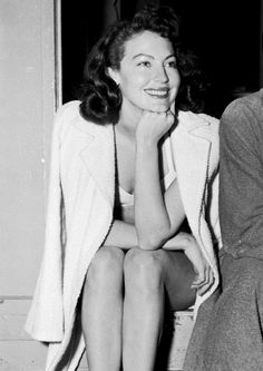 """ava-et-liz:   """"Ava didn't have to wear makeup. She had naturally beautiful skin, and great color to her lips. She dressed very casually…And there was no one who could touch that posture, the way she walked and presented herself. She was a sexy woman without trying. All she had to do was walk into the room.""""- Arlene Dahl"""