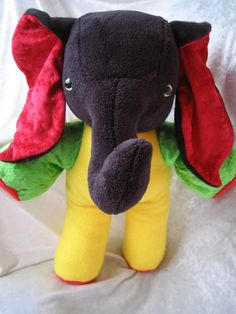 Get your own Elephant Man :) Yeah Man REGGAE ELEPHANT  YELLOW Jamaica by TALLhappyCOLORS, €60.00