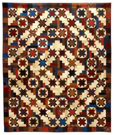 Circle of Light Quilt-----This great star quilt just seems to radiate sparkle and light.