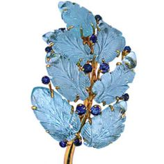 Suzanne Belperron - BELPERRON Rare Aquamarine Leaves Spray Pin (leaf detail w/sapphires. Jewelry Tree, High Jewelry, Candy Jewelry, Jewellery, Gold Brooches, Vintage Brooches, Antique Jewelry, Vintage Jewelry, Buddha Jewelry