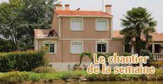découvrez la réalisation d'une toiture en tuiles de type romane sur une maison située à Bazoges en Paillers près des Herbiers en vendée (85).
