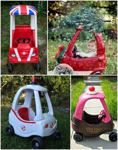 Must Make: Pimped Out Cozy Coupe MUST do this for the Christmas card!!!!