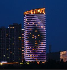 Facade Lighting project for Qingdao Hu