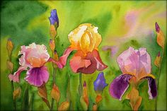 Watercolor flowers by Krzysztof Kowalski. Floral paintings. Kwiaty akwarelowe Krzysztofa Kowalskiego - Galeria. Esperoart.