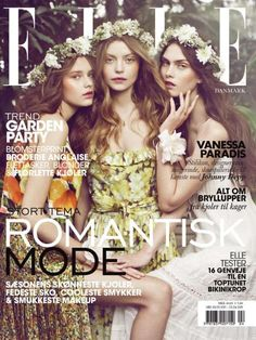 Woodland Nymph Fashion - The Elle Denmark Spring 2011 Cover is Fairytale-Like