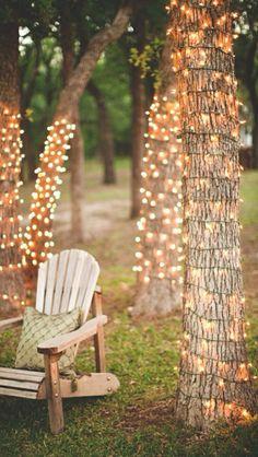 Deck chair & fair lights - magical