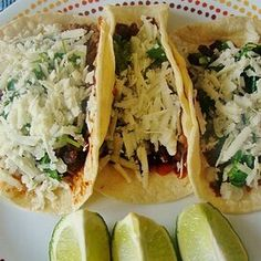aqueria Style Tacos - Carne Asada Mexican Dishes, Mexican Food Recipes, Ethnic Recipes, Chickpea Tacos, Meat Seasoning, Vegetarian Tacos, Paleo, Pork Tacos, Beef Enchiladas