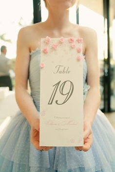 Pretty oversized table numbers