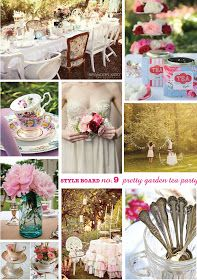 one red shed: Style Board No. 9 - Pretty Garden Tea Party