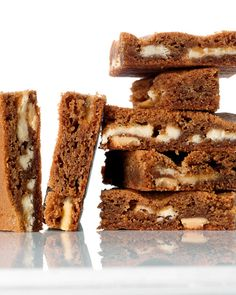 White Chocolate-Gingerbread Blondies - Martha Stewart Recipes (double or tripple the cinnamon if you want). Really cute cut into shapes or iced with a cinnamon buttercream.