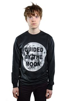 Unisex Guided by the Moon LOng Sleeve T-Shirt - XS/S/M/L/XL/XXL - Choose Your Size by TROPICULT on Etsy
