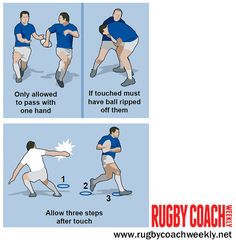 Touch rugby is a good way to build skills but you need to have a number of modifications up your sleeve. Here are three that work on handling...